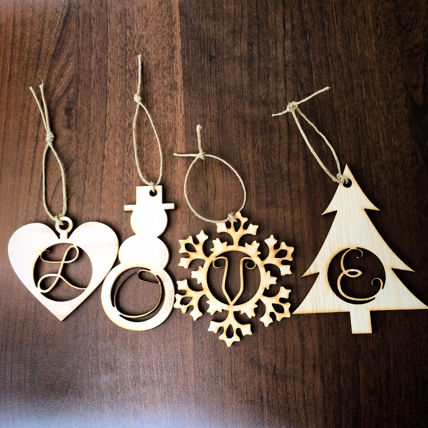 Initial Ornaments | Wood Letter Gift Tags | Innotations